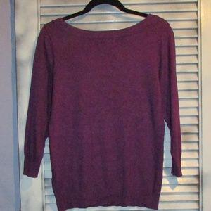 Joseph Allen Sweaters - Joseph A med purple boat neck 3/4 sleeve sweater